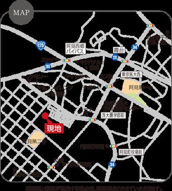阿見町阿見(全3区画)map
