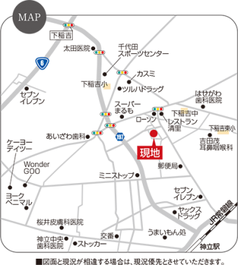 かすみがうら市稲吉(6区画)map