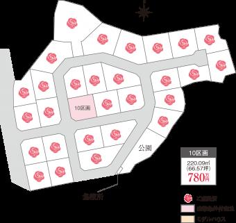 土浦市桜ヶ丘(全29区画)kukaku