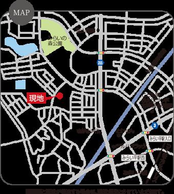 つくばみらい市富士見ヶ丘3丁目(全6区画)map