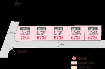土浦市並木(全5区画)kukaku