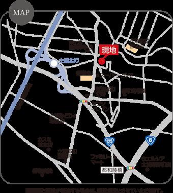 土浦市並木(全5区画)map