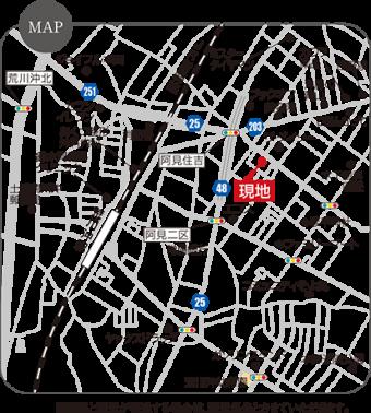 阿見町うずら野第4期(全12区画)map