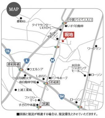 土浦市板谷(全44区画)map