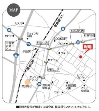 阿見町うずら野第5期(全5区画)map