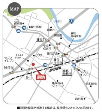 取手市谷中(全1区画)map