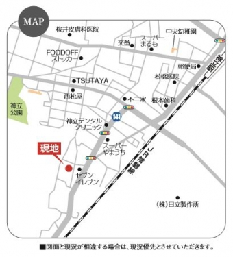 土浦市神立(全11区画)map