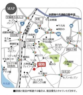 牛久市さくら台第1期(全11区画)map