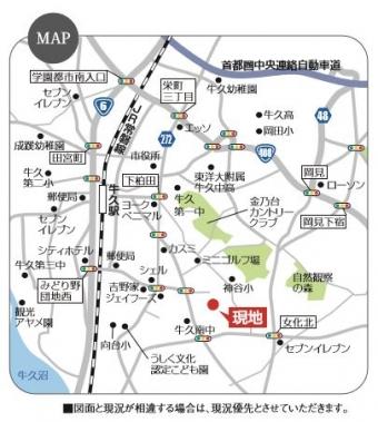 牛久市さくら台3丁目(全1区画)map