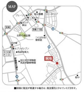 つくば市流星台(金田)map