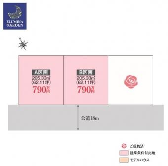 阿見町岡崎1丁目(全3区画)kukaku