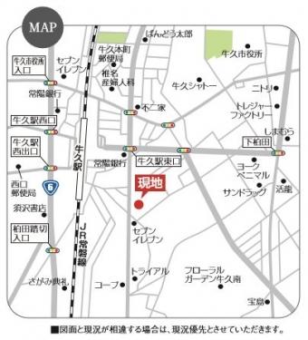 牛久市南2丁目(全1区画)map
