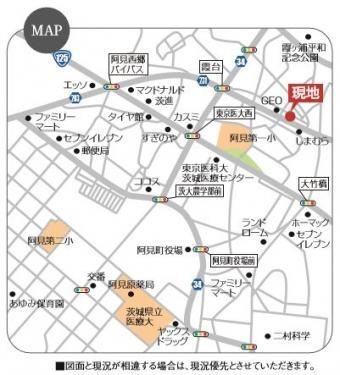 阿見町岡崎1丁目_map