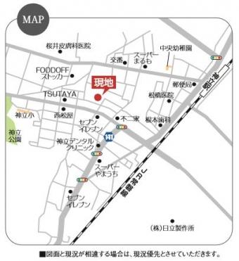 土浦市ウイングタウン中神立(全7区画)_map