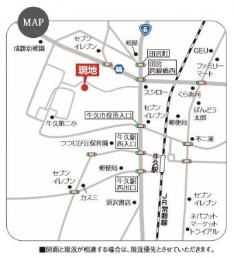 牛久市田宮町(全6区画)map