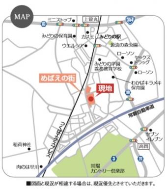 めばえテラス(全23区画)map